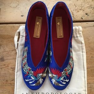 Anthropologie Llani Embroidered Ballet Flats NWT